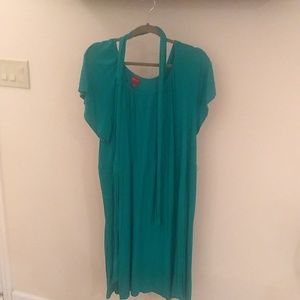 Plus size 2x green belted dress
